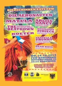 Bierschinken eats FZW am 16.10. in Dortmund