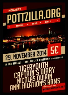 Tigeryouth, Anni Hilations Arms, Captains Diary am Sa, 29.11.2014 in Dortmund