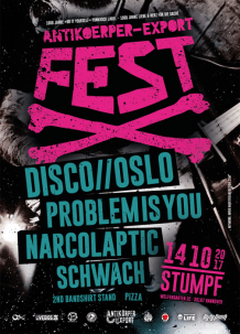 Disco Oslo, Narcolaptic, Schwach am Sa, 14.10. in Hannover